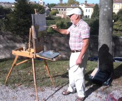 Painting from the Ramparts, Lucca